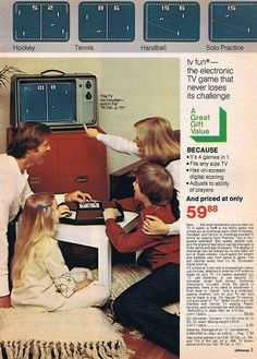 Family game console from JC Penney, 1976.