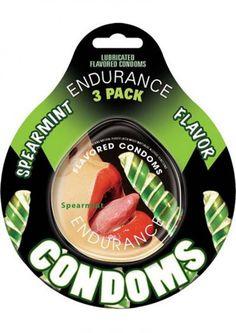 Lubricated Flavored Endurance Condoms 3 Per Pack Spearmint #SexToysShop #SexToys #Sexy #condoms #condom #Contempo #Impulse #Lifestyles #Durex #NonLatex #Latex #contempo #Kimono #resevoir #lelo #lubricated #XXL #Trojan #BritishCondoms #Trustex #Strawberry #Magnum #Spermicidal #Ecstasy #ClimaxControl #Naturalamb #Endurance