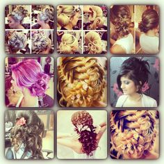 Wedding hairdo ideas thanks to instagram I got some cool things to look forward to doing with my looooooong hair =]