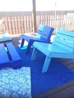 DIY: Outdoor Pallet Patio Set in pallets 2 furniture  with Terrace patio Pallets outdoor Furniture DIY