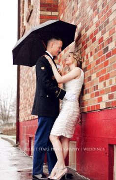 Rainy Day Wedding Pose 2. Ohhh I probably should by an umbrella to be safe