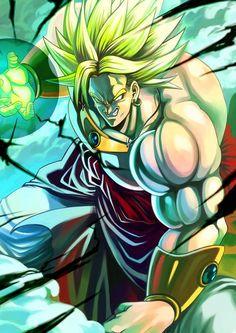 Broly Dragonball Z DBZ - #dragonball #dbz #dragonballsuper .sin dudas el más chacal de los enemigos de goku