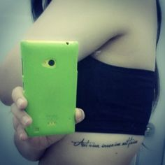 Aut viam inveniam aut faciam (I will either find a way or make one) #latinphrase #lettertattoo #mytats #bralinetattoo