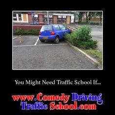 You might need Traffic School if… #comedy #trafficschool #trafficschoolflorida  #followme  #niceparking https://www.comedydrivingtrafficschool.com/