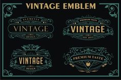 VINTAGE EMBLEM by arace on @creativemarket