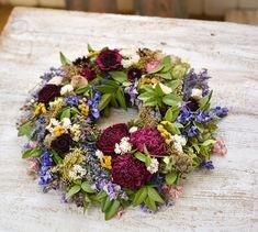Garden wreath, natur, dried flowers Dried Flowers, Floral Wreath, Wreaths, Garden, Home Decor, Flower Preservation, Floral Crown, Garten, Decoration Home