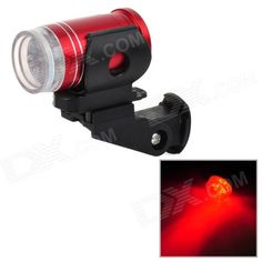 LW-027 6-LED Red Light Bike Safety Tail Light - Red (2 x CR2032) Price: $5.30