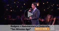 """Last year, Santino Fontana was nominated the Tony Award for Best Performance by a Leading Actor in a Musical for his role in Rodgers + Hammerstein's Cinderella.  Watch him perform """"Ten Minutes Ago"""", a favorite song from that Broadway show, with the accompaniment of the Mormon Tabernacle Choir and Orchestra at Temple Square."""