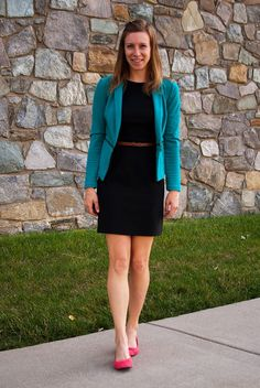ootd - business casual, wear to work, what to wear, shift dress, sheath dress, outfit ideas