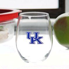 Kentucky Wildcats 15oz. Stemless Wine Glass - $9.59