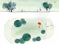 Znalezione obrazy dla zapytania blotch landscape architecture