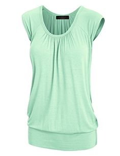 W SHORTS $9.95 XL MINT LL WT1054 Womens Solid Short Sleeve Sweetheart Top XL MIN...