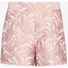 Exclusive for Intermix Lydia Lurex Jacquard Short ($149) ❤ liked on Polyvore featuring shorts, multi, side zip shorts, short shorts, tailored shorts, jacquard shorts and pink short shorts
