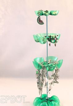 """EPBOT: """"Dew"""" It Yourself Jewelry Stand - Could be a fun craft with the kids and depending on the age, you may need to do all the cutting for them."""