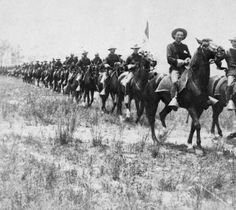 """http://www.imdb.com/title/tt0429751/ Calvary Parade 1903. Filmed in Sheridan, Wyoming  """"Squadron of regular troops ride up and turn just as they reach camera. Valuable especially as showing actual appearance of soldiers at forts on western frontier. A good film for any crowd.""""  Written by Selig Catalog"""