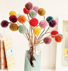 bouquet pompons DIY by tabula rosi