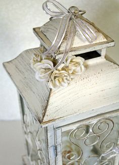Wedding Lantern Centerpiece. 10in. Vintage by DazzlingGRACE