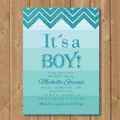 Babyboy shower invitation  Babyshower by Alapipetuadesign on Etsy