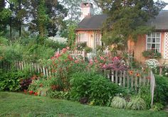 Cottage Garden filled with roses   Flickr - Photo Sharing!