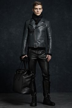Can you have too much leather? Belstaff Fall/Winter 2012