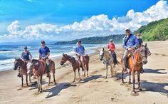 We explored five seemingly endless  gorgeous beaches  jungles & waterfall this morning via horseback. Our kind of transportation. #familyadventure #wanderlust #horseback