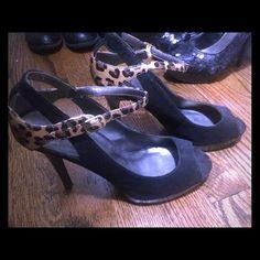 saleBlack heels with leopard strap Heels Joey Shoes Heels