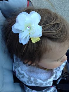 Baby/Child's Hair Clip Alligator Clips Flower by JandGhandmade, $4.00