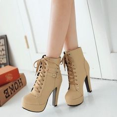 High heel lace-up heels # high heels ankle boots - Absatzschuhe - Black High Heels, High Heels Stilettos, Stiletto Heels, Shoes Heels, Boot Heels, High Heeled Boots, Flats, Nike High Heels, Cool High Heels