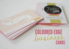 MAKE YOUR OWN COLORED EDGE BUSINESS CARDS