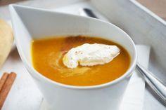 Die Mango-Karotten-#Suppe ist eine köstliche Vorspeise, wenn sie Gäste haben. Das Rezept lässt sich gut vorbereiten.