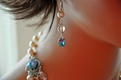 Bridal Pearl EarringsSwarovski Crystal by cynthiacouture on Etsy
