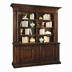 Check out the A.R.T. Furniture 210424-2106 Egerton Bookcase Set in Medium Cherry priced at $3,070.00 at Homeclick.com.