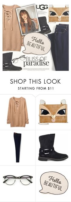 """""""The New Classics With UGG: Contest Entry"""" by ghdesigns-official ❤ liked on Polyvore featuring Betsey Johnson, Lands' End, UGG and ugg"""