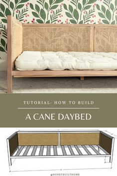 home decor ideas furniture Daybed Bedding, Diy Bed Headboard, Diy Daybed, Headboards For Beds, Daybed Ideas, Pallet Bed Frames, Diy Bed Frame, Diy Furniture Projects, Furniture Plans