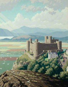 Ronald Lampitt (1906-1988): Harlech Castle, 1959