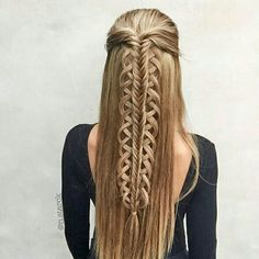 These braids look almost like  Celtic knotwork. SO beautiful.