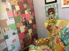 I love this office space I created at Wild Ivy Child, filled with colour and inspiration. The big patchwork armchair of perfect for reading and research. The paper covered cupboards and the artworks complete the look. Learning Through Play, Paper Cover, Cupboards, Early Childhood, Ivy, Artworks, Armchair, Recycling, Quilts