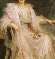 """Crown Princess Cecilie of Prussia, née Duchess of Mecklenburg-Schwerin"" (1908) (detail) by Caspar Ritter (1861-1923)."