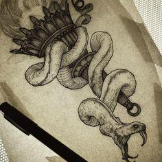 27 New ideas for tattoo snake drawing art Tattoo Food, Tattoo L, Tatto Ink, Hand Tattoo, Snake Tattoo, Lion Tattoo, Tattoo Animal, Tattoo Skin, Tribal Tattoos