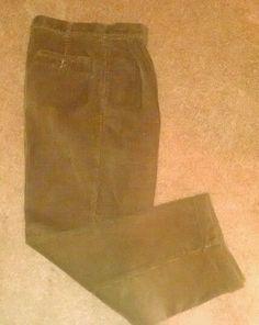 Jos. A. Bank Brown Corduroy Pleated Pants Size 34x29 #JosABank #Corduroys