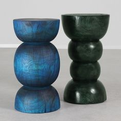 As Shown: Paolo Stool Table  Size: 12 dia x 21 H inches  Finish: Forest Green  Topcoat: Sealed Topcoat