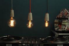 Industrial concrete designer lamps from Berlin Solut.