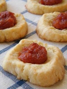 Pepitas: Quince Jam Thumbprint Cookies. One of my favorite panadería discoveries in Argentina. So delicious!