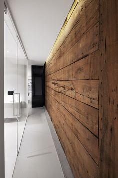 Timber Clad Wall - Hallway