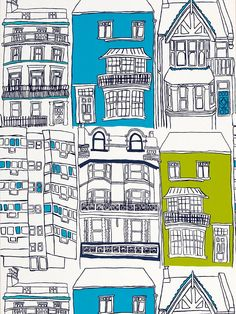 Buy Harlequin Wallpaper, Brighton 70513, Turquoise / Lime online at JohnLewis.com - John Lewis
