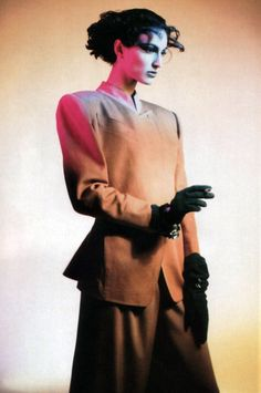 Claude Montana, American Vogue, March 1986. Photograph by Paolo Roversi.