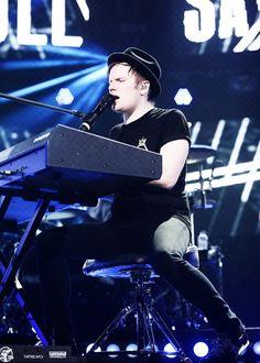 Patrick Stump playing the piano.