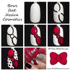 Bow Nail Art Tutorial Feat. Jessica Cosmetics