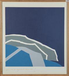 Onduidelijk gesigneerd, Downward, Abstracte compositie / 1971