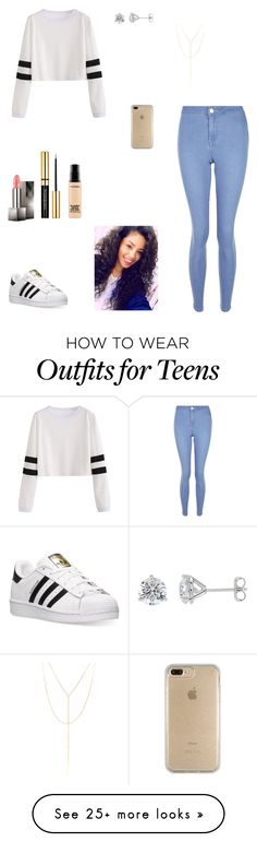 """""""Untitled #487"""" by kittykat125 on Polyvore featuring New Look, adidas, Speck, Burberry, MAC Cosmetics and South Moon Under"""